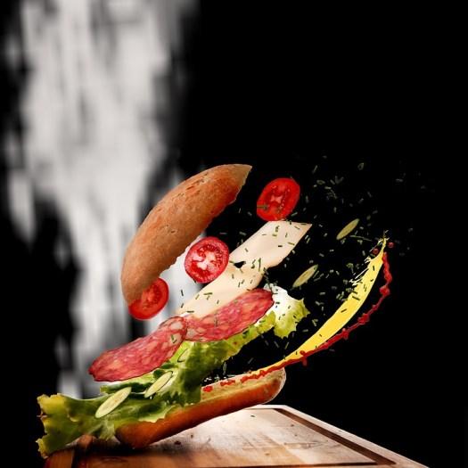 Sandwich, Cibo, Movimento, Alimentari, Rotolo, Snack