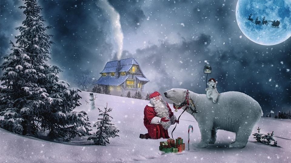 Natale, Natale Motivo, Inverno, Babbo Natale
