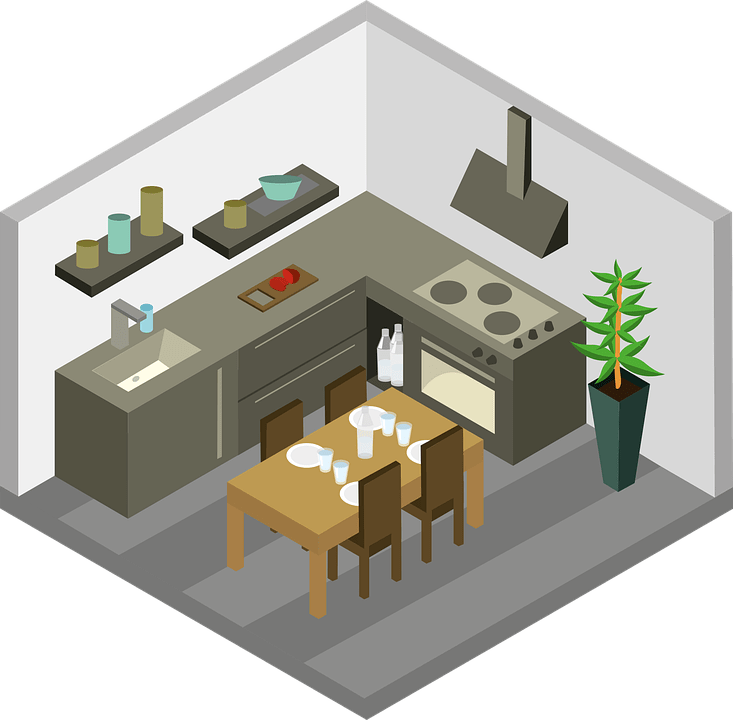 Kitchen Furniture House Free Vector Graphic On Pixabay