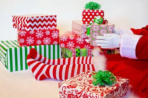 Lutin Du Père Noël, Présente, Cadeaux