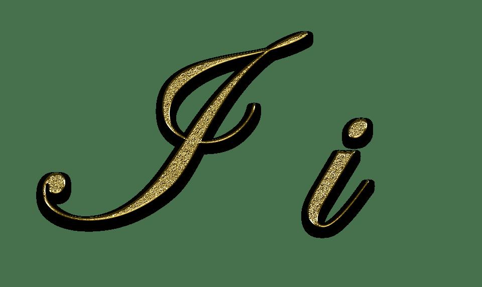 Gold Glitter Font Letter C