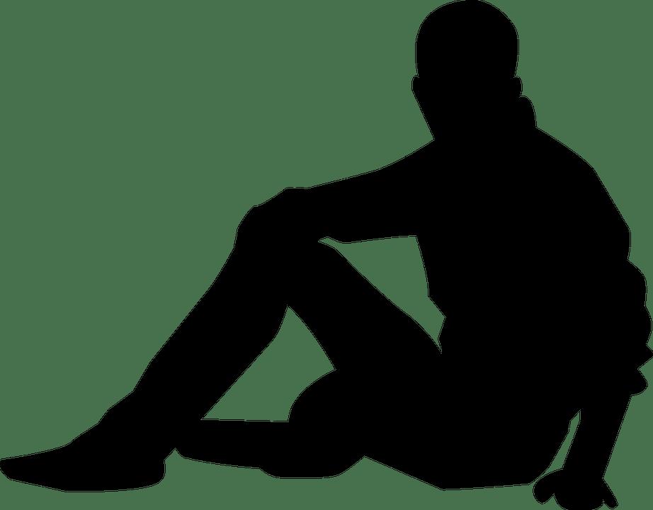 Couple Silhouette Knees