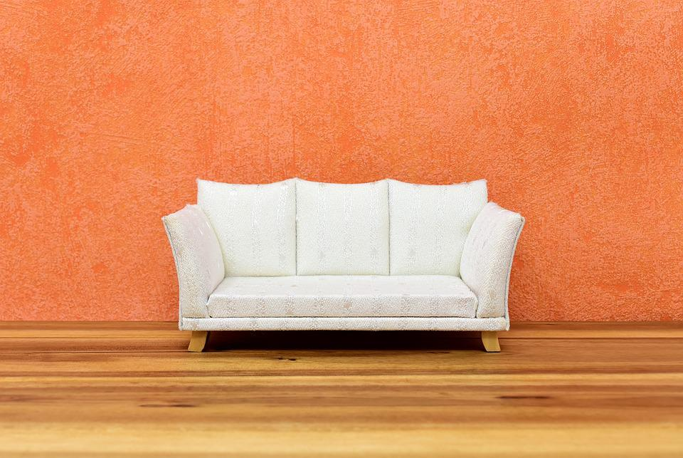 Sofa, Couch, Wall, Furniture Pieces, Relaxation, Home