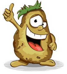 Potatoes, Smile, Thumbs Up, Character, Cartoon