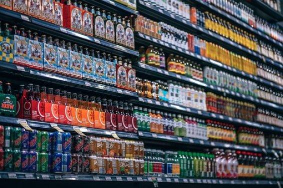 Beverages, Bottles, Shelf, Cans, Coke