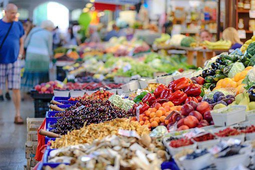 The Market, Fresh, Groceries, Food