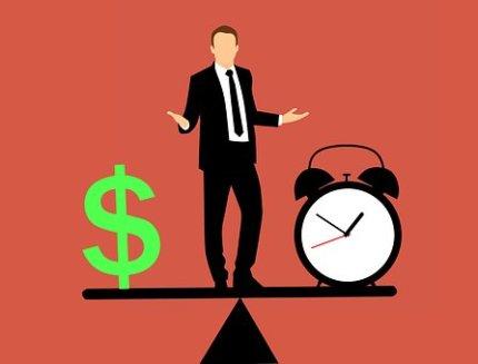 Business Man, Balancing, Time And Money