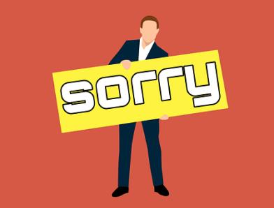 Sorry, Board, Regret, Repentance, Pardon