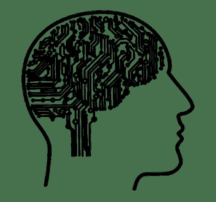 Machine Learning, Brain, Mind, Idea, Silhouette