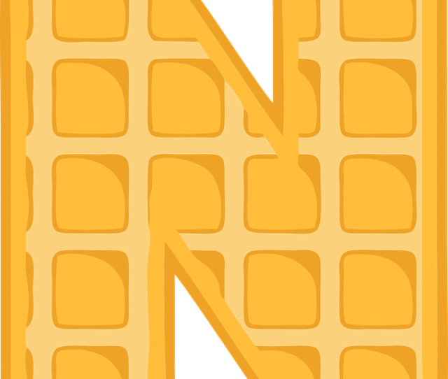 N Alphabet Waffle Letter Typography Text Font