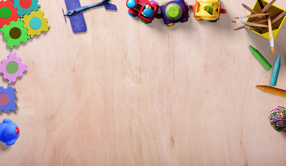 Toys, Frame, Background Image, Puzzle, Rubber Duck