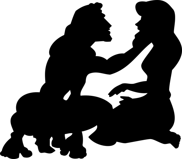 Silhouette Couple Disney Free Vector Graphic On Pixabay