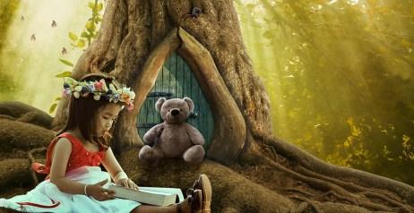 Fantasía, Bosque De Cuento De Hadas, Chica, Bosque
