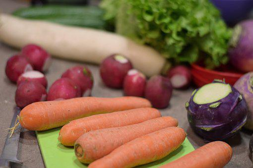 野菜, 食品, 鮮度, 健康, 市場, 料理, 根物野菜, ルート, 牧草地