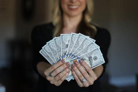 Woman, Adult, People, Money