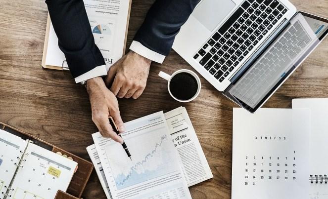 Escritório, Negócios, Papelada, Documento, Laptop, Agenda