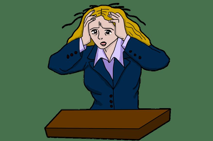 女性を強調, ストレス, 強調, 緊張, 圧力, ひずみ, 頭痛の種, 頭の痛み, 心配, 不安