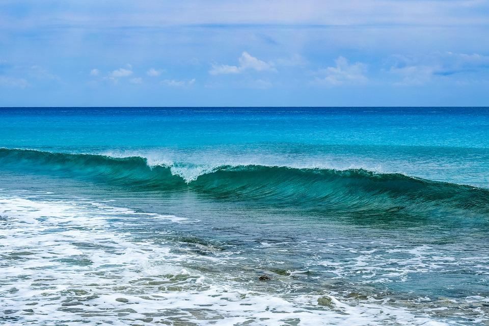 Wave, Seascape, Surf, Sea, Sky, Clouds, Horizon, Nature