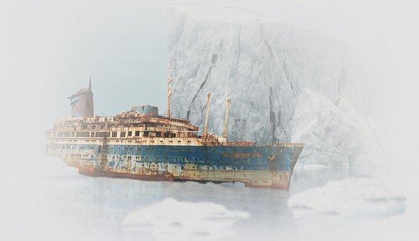 Ship, Wreck, Old, Rust, Stranded, titanic, Violet Jessop,