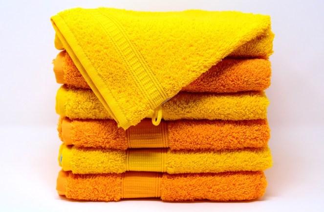 Pyyhkeet, Pesulappu, Keltainen, Oranssi, Värikäs