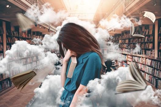 Donna, Libreria, Libri, Studio, Lettura, Sapere