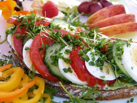 Pane, Sandwich, Prima Colazione, Frutta, Cetriolo