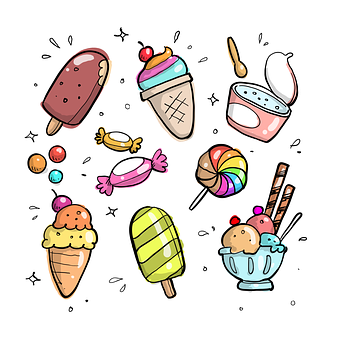 Doodle, Cartoon, Drawn, Food, Sweet