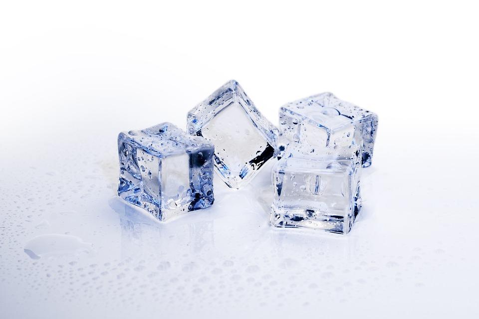 アイス キューブ, 氷, 冷, 凍結, リフレッシュメント, キューブ, 冷やした