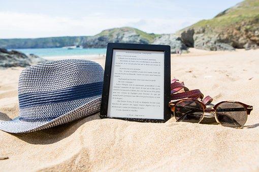 Ebook, Hat, Sunglasses, Summer, Holiday