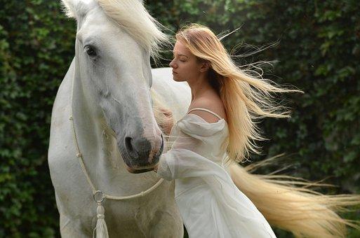 Girl, Daydreaming, Horse, Daydream