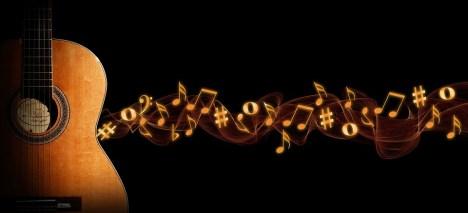 Guitare, La Musique, Bokeh, La Flamme, En Tête
