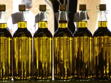 Olive Oil, Market, Bottles