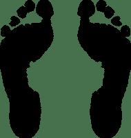 Footprint, Foot, Feet, Step, Food, Baby