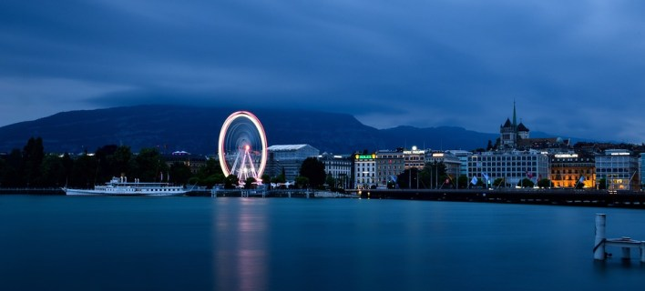 Lago, Genebra, Água, Suíça, Navio, Montanhas, Paisagem