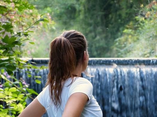 Donna, Ragazza, Natura, Acqua, Cascata, Forest, Autunno