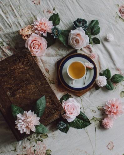 Taza De Té, Flores, Hermosa, De Fondo, Copa, Té, Rosa