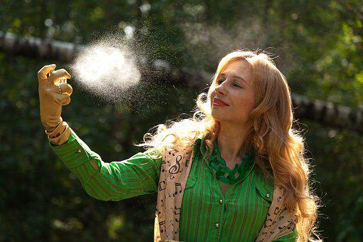 Perfume, Spray, Nature, Woman