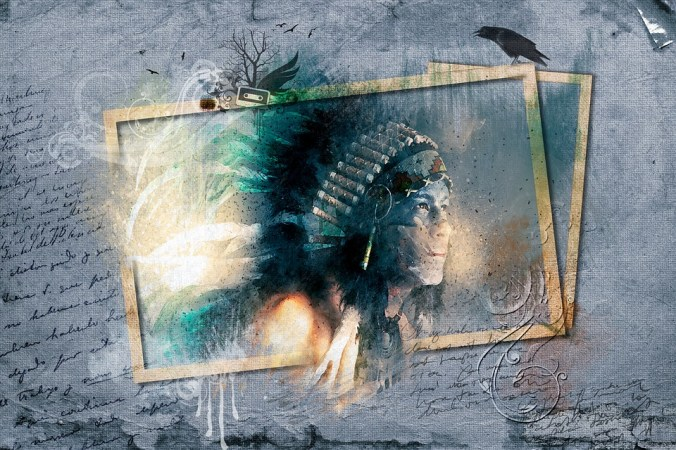 Indigenous, Man, Male, Indian, Feathers, Head Set