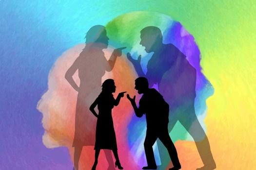 Controversia, Uomo, Donna, Silhouettes, Conflitto