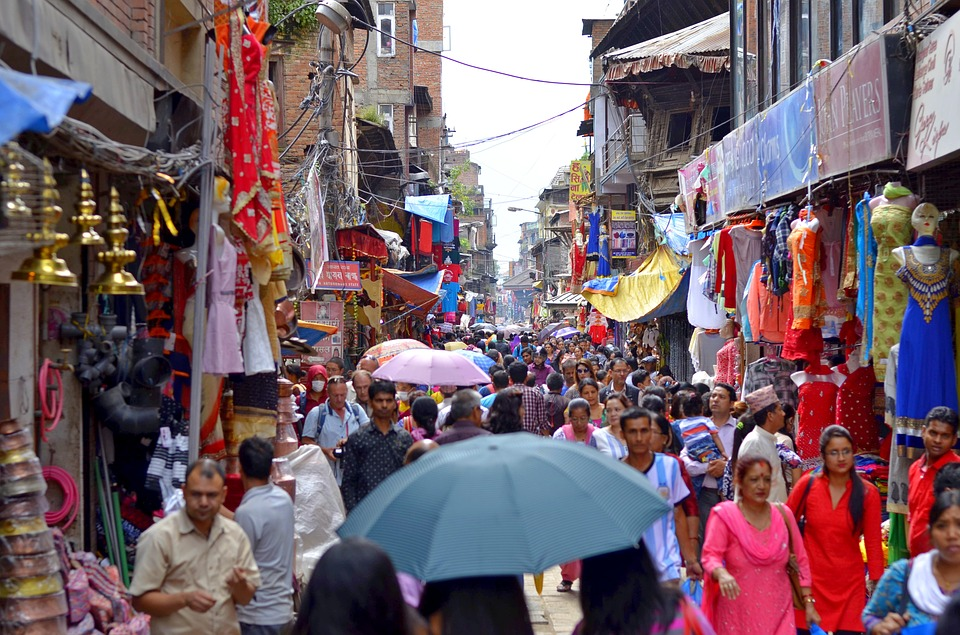People, City, Nepal, Asia, Urban, Pedestrians, Hectic