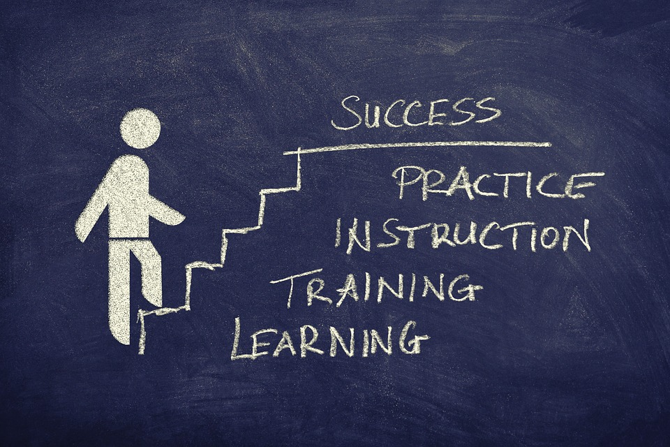 成功, 階段, ボード, 図面, 定量, キャリア, 野心, 上昇, 進行状況, カリキュラム, 教育