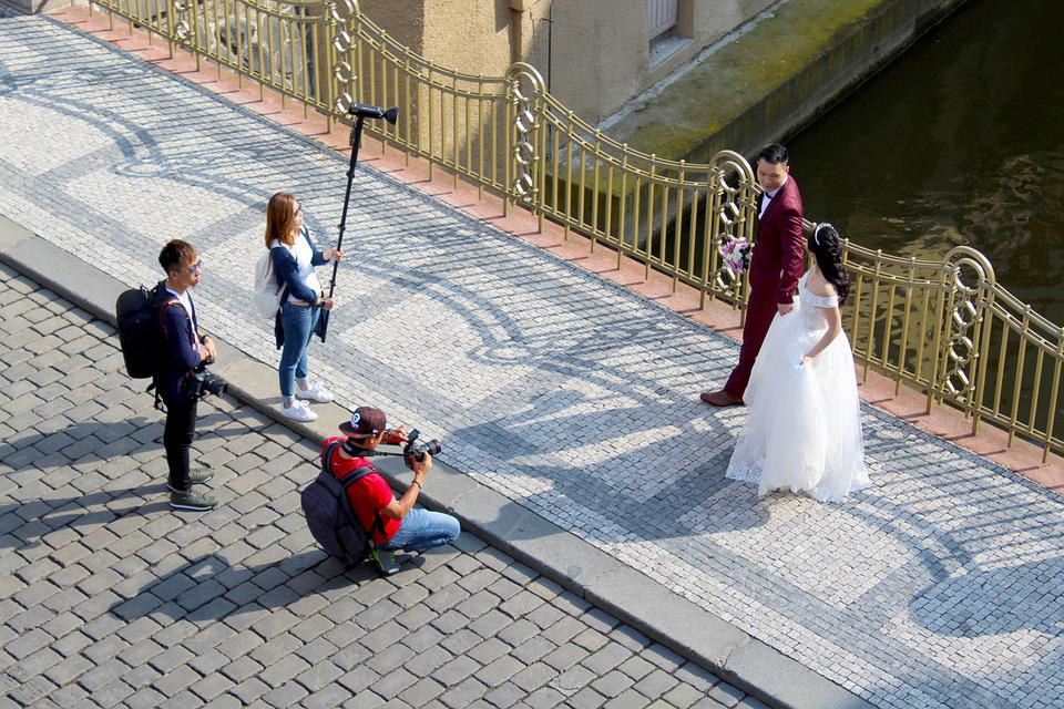 Bride, Prague, Groom, Wedding Photo, Wedding, Pair
