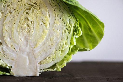 ホワイト, キャベツ, 野菜, 食品, 健康