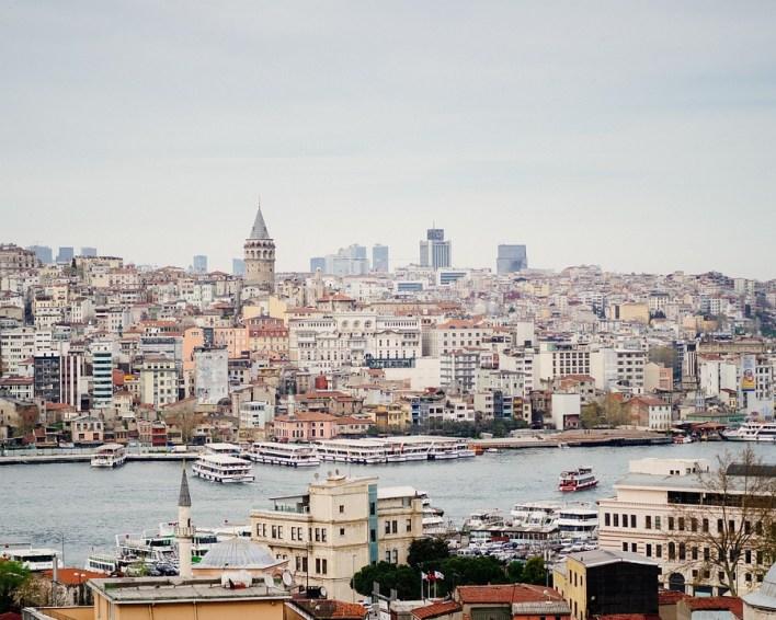 Istambul, A Torre Galata, Galata, Turquia, Férias