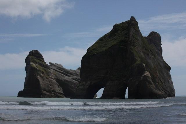 New Zealand, South Island, Wharariki Beach, Rock