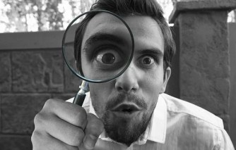 Magnifying, Glass, Detective, Looking