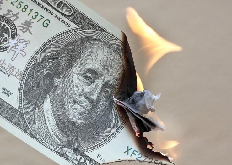 Money, Burn, Dollar, Waste, Finance, Fire, Investments