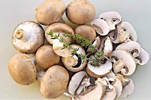 キノコ, マッシュルーム (茶色) します, 食べる, 栄養, 新鮮, 健康