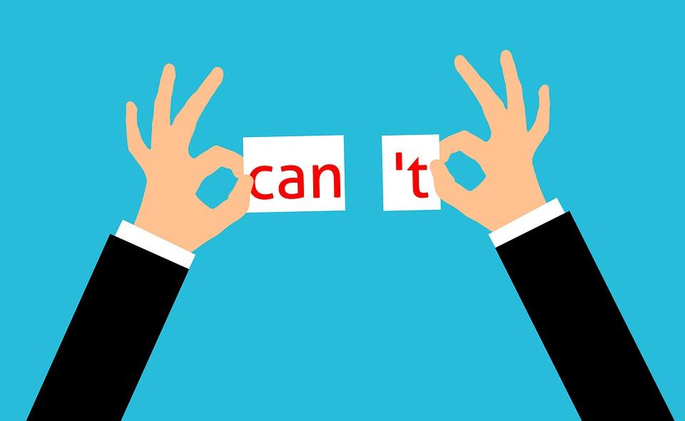 できません, することができます, モチベーション, 陽性, 激励, 自己, 信念, 自信を持って, ビジネス