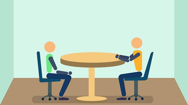 ビジネス, 人, インタビュー, 仕事, 会議, フラット, デザイン